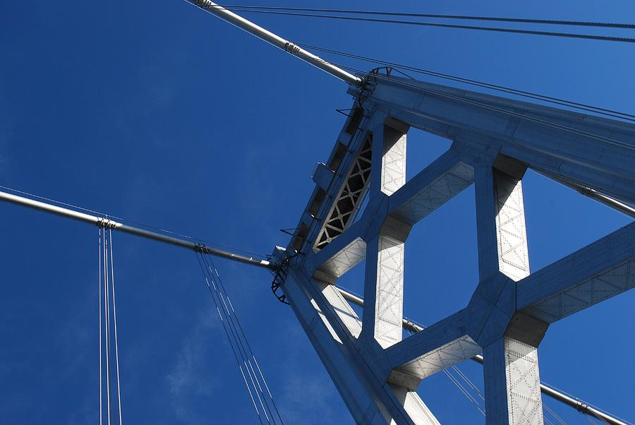 Horizontal Photograph - Bay Bridge And Blue Sky, San Francisco by Jamie Jennings www.JJphotos.ca