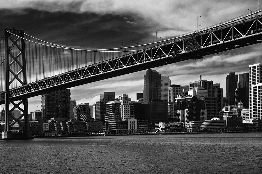 Bay Bridge Photograph - Bay Bridge And San Francisco Downtown by Laszlo Rekasi