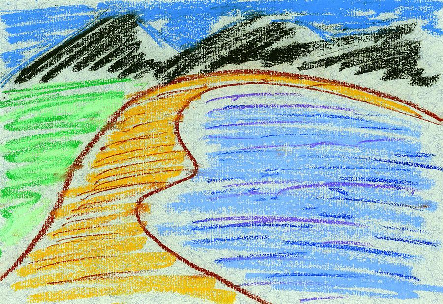 Pastels Painting - Bay by Hakon Soreide