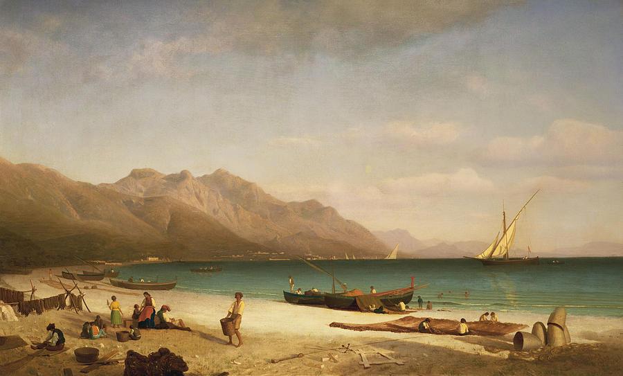 Bay Painting - Bay Of Salerno by Albert Bierstadt