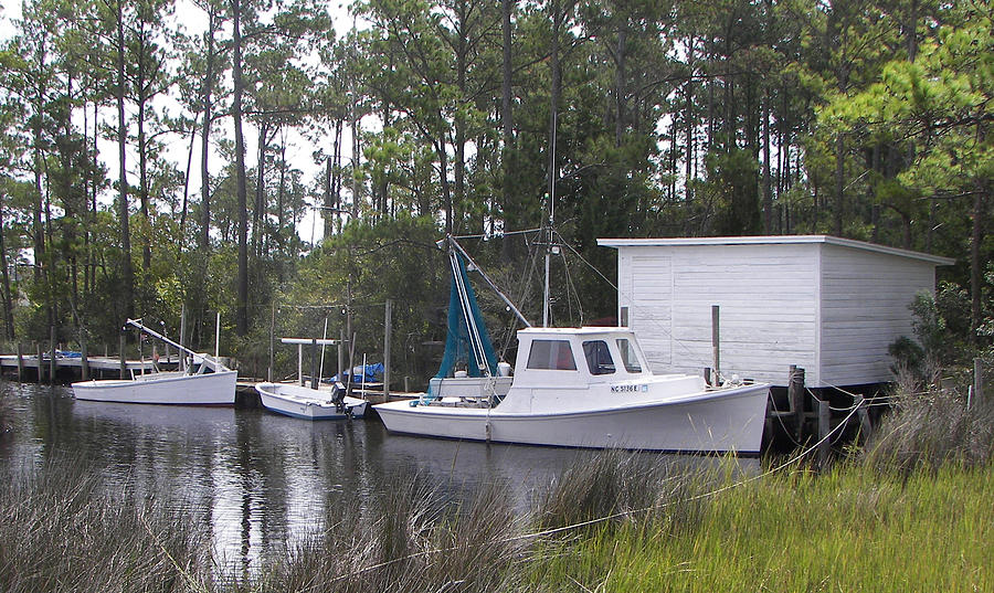 Boat Painting - Bay Shrimper by Kevin Brant