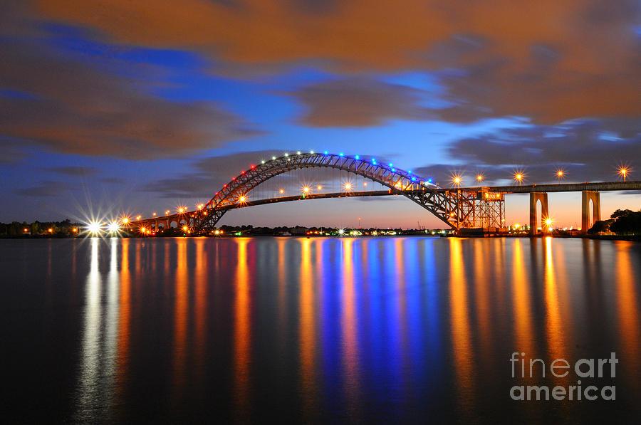 Bayonne Photograph - Bayonne Bridge by Paul Ward