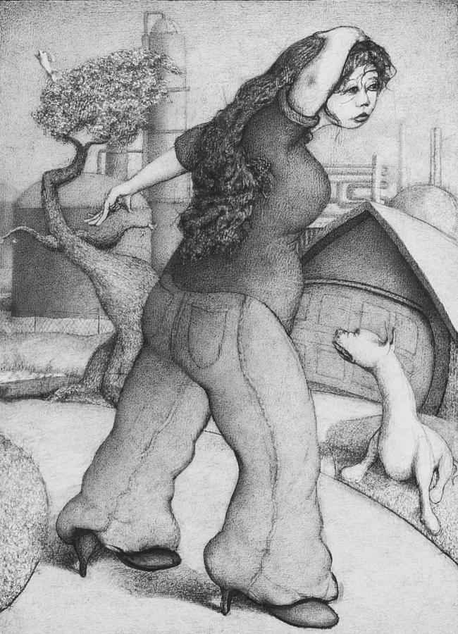 Louis Gleason Drawing - Baytown Girl by Louis Gleason