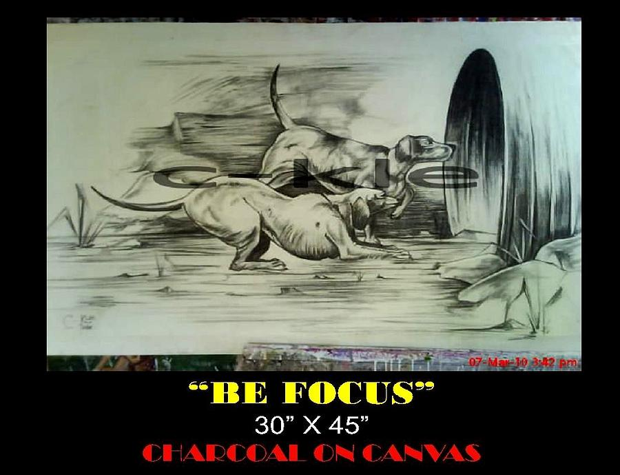 Be Focus Painting by Clement Martey