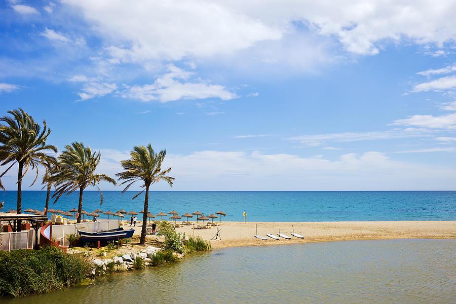 Marbella Photograph - Beach And Sea On Costa Del Sol by Artur Bogacki