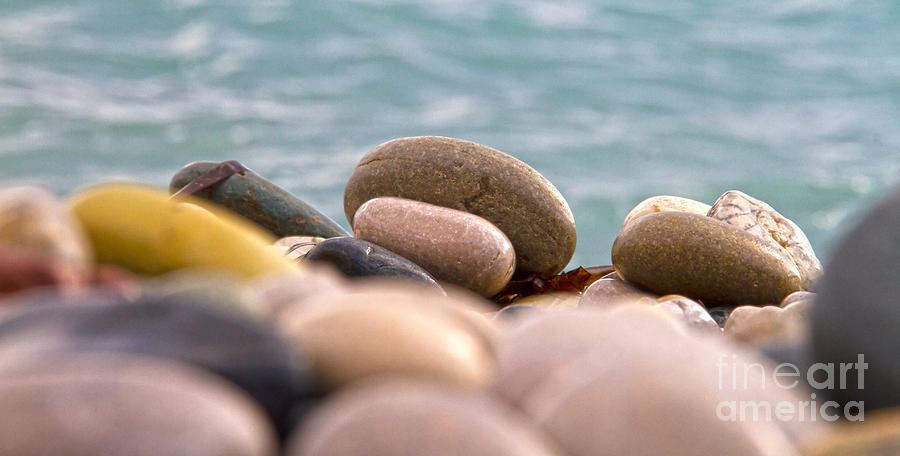 Abstract Photograph - Beach And Stones by Stelios Kleanthous