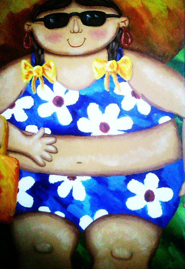 Swim Suit Painting - Beach Babe by Unique Consignment