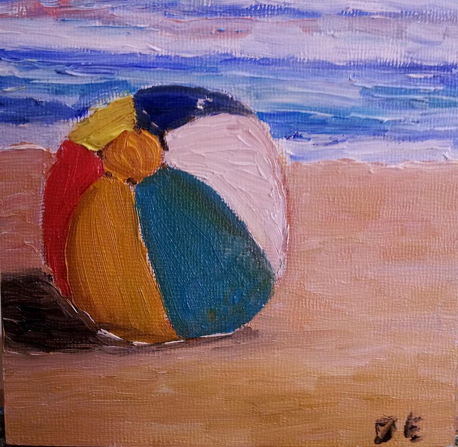 Beach Ball Painting By Diane Elgin