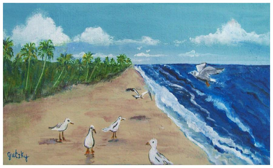 Beach Birds Painting by Paintings by Gretzky
