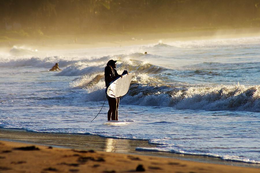 Surfing Photograph - Beach Break by Lennie Green
