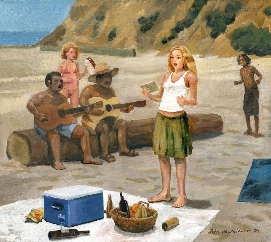 A Cappella Painting - Beach Concert by John DeLorimier