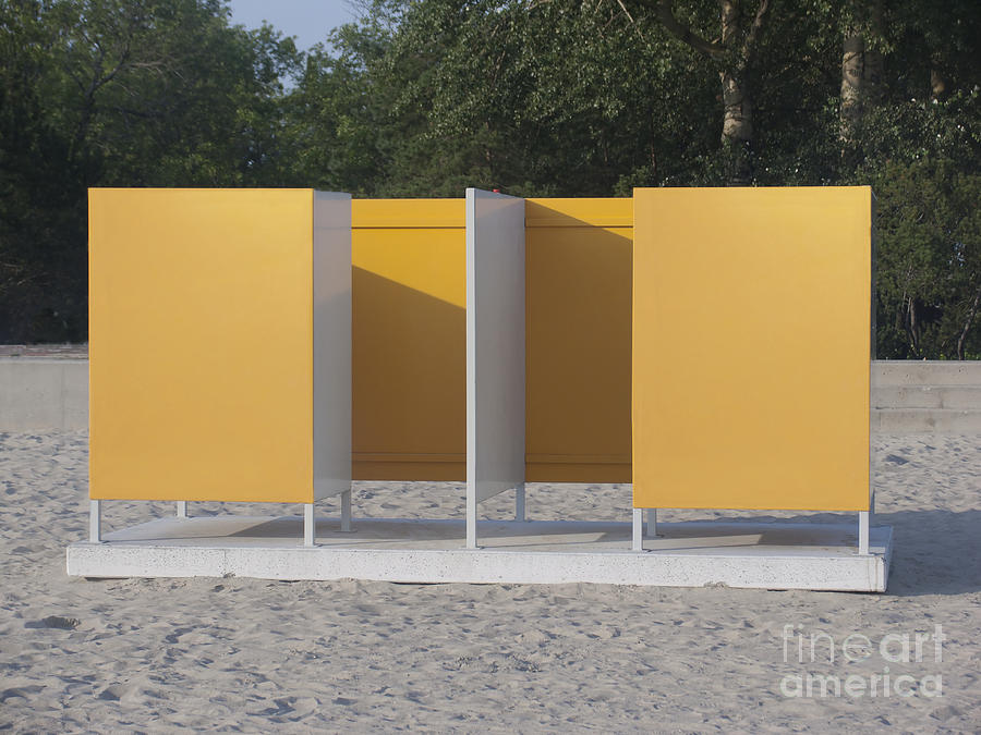 Beach Photograph - Beach Dressing Rooms by Jaak Nilson