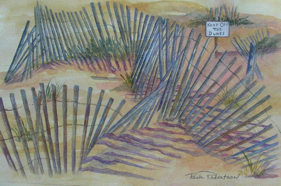 Beach fences by Paula Robertson