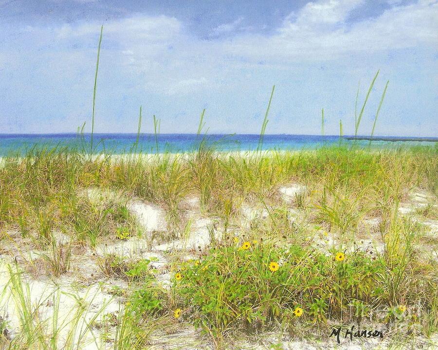 Beach Photograph - Beach Flowers by Mona Younavjak Hansen