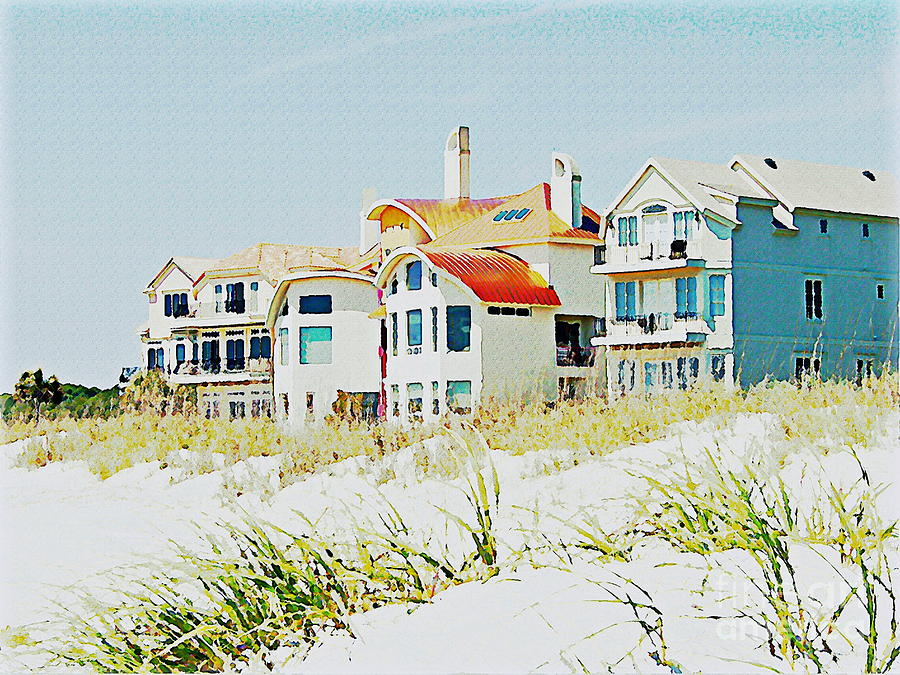 Houses Photograph - Beach House by Carol  Bradley