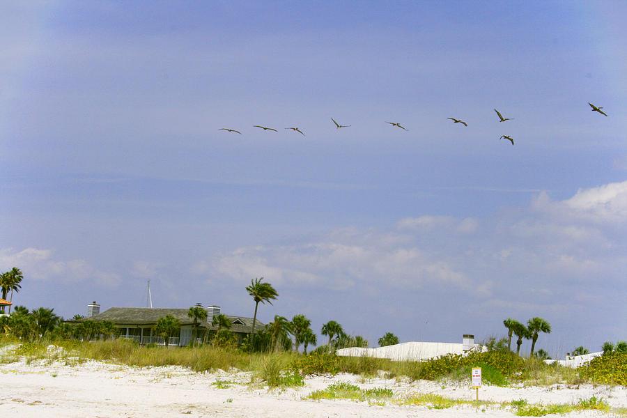 Blue Sky Photograph - Beach House by Georgia Fowler