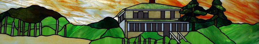 Beach Glass Art - Beach House by Jane Croteau
