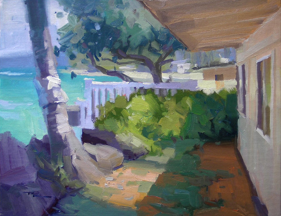 Haleiwa Painting - Beach House by Richard Robinson