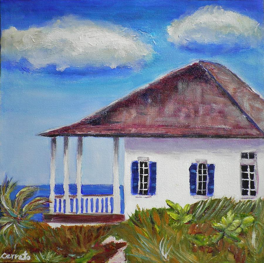 Beach House Painting by Shirley Cerreto