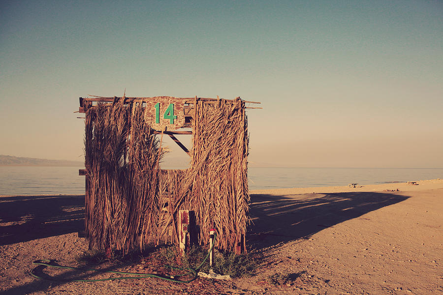 Salton Sea Photograph - Beach Hut Number Fourteen by Laurie Search