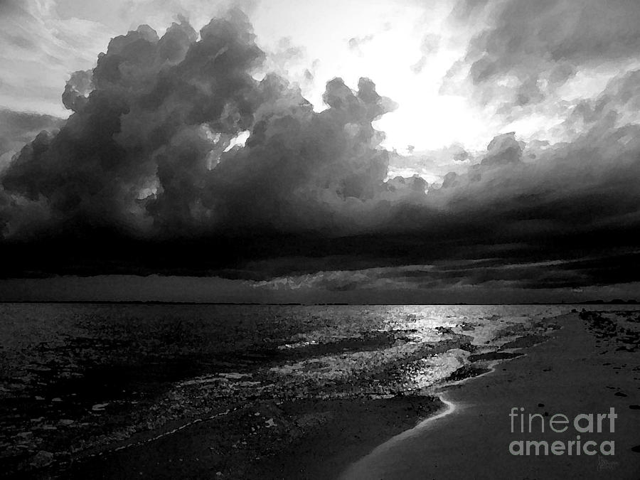 Beach Photograph - Beach In Black And White by Jeff Breiman