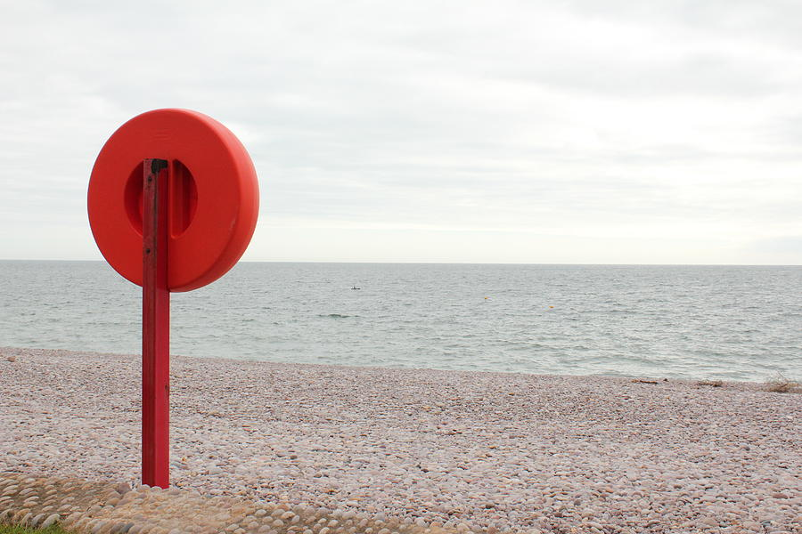 Horizontal Photograph - Beach In Budleigh Salterton by Thenakedsnail