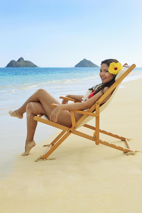 Attractive Photograph - Beach Lounger by Tomas del Amo