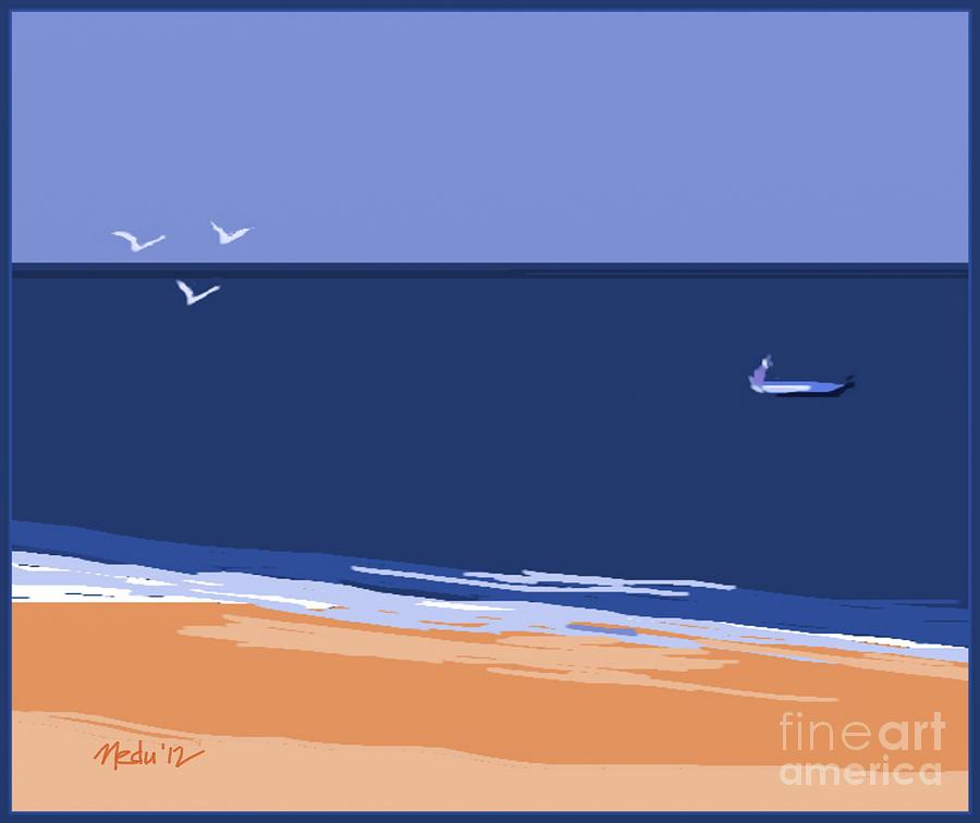 Paintings Painting - Beach by Nedunseralathan R