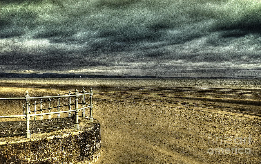 Background Photograph - Beach Of Leight Edinburgh by Elena Mussi