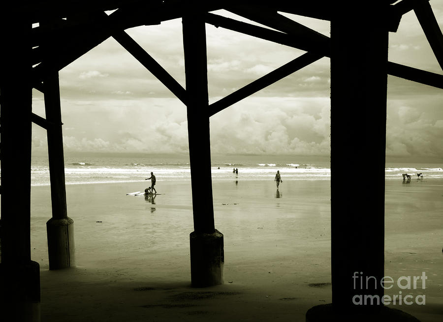Beach Photograph - Beach People by Susanne Van Hulst