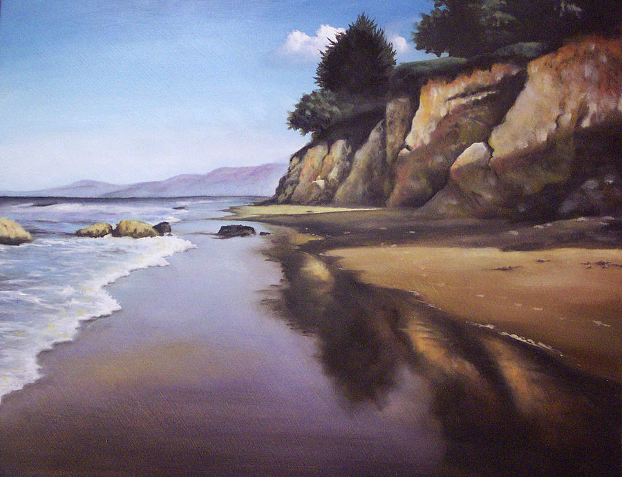 Beach Painting - Beach Scene by Mike Worthen