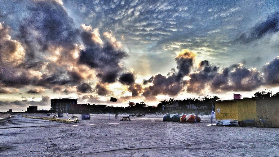 Storm Photograph - Beach Storm by Scott Crump