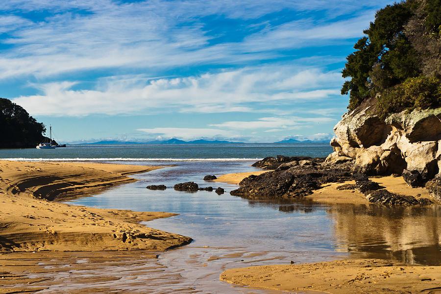 Beach Stream Photograph by Graeme Knox