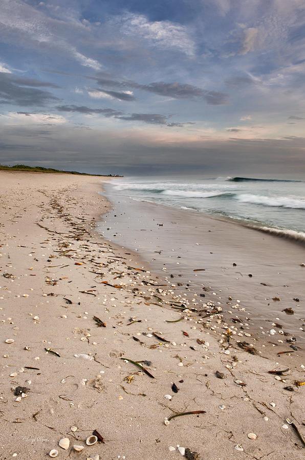 Clouds Photograph - Beach Sunrise by Cheryl Davis