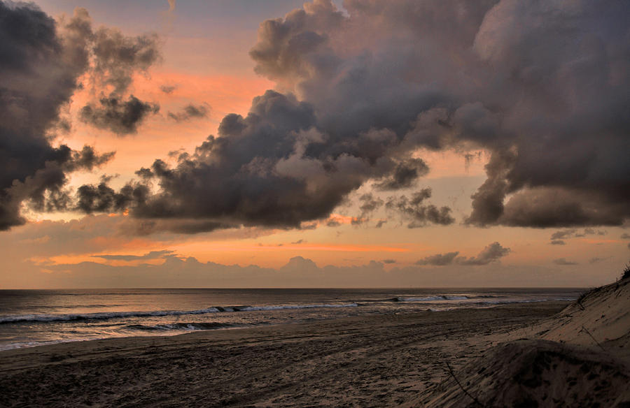 Outer Banks Photograph - Beach Sunrise Obx  - C0983d by Paul Lyndon Phillips