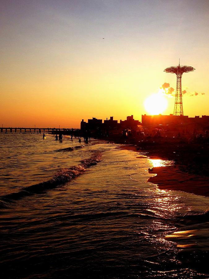 Beach Photograph - Beach Sunset - Coney Island - New York City by Vivienne Gucwa