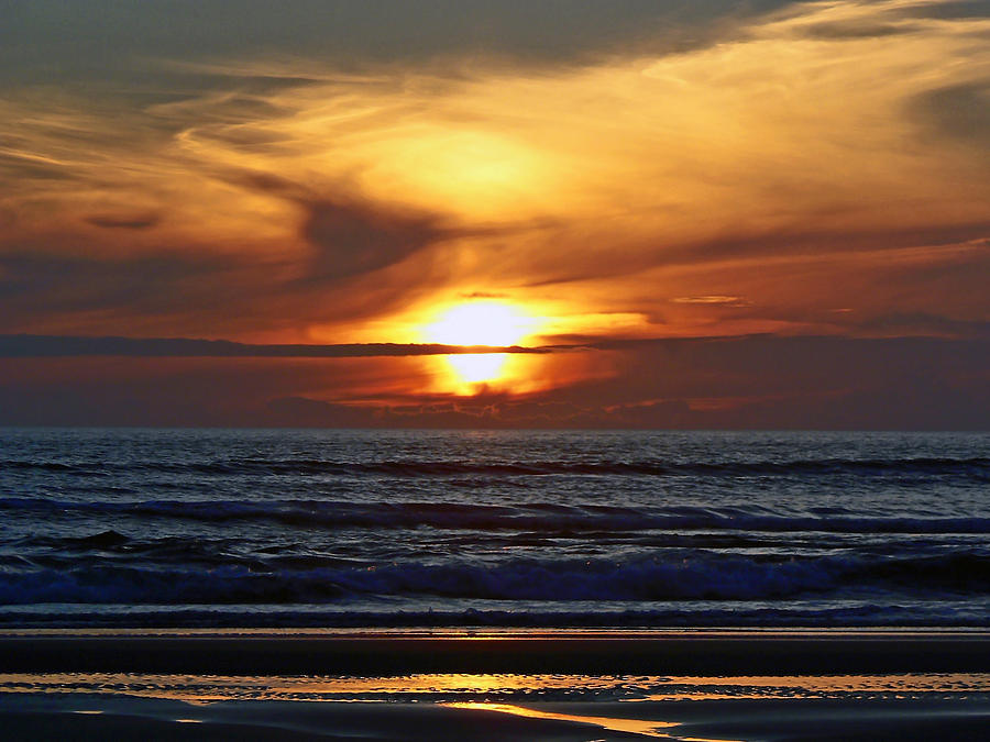 Sunset Photograph - Beach Sunset  by Pamela Patch