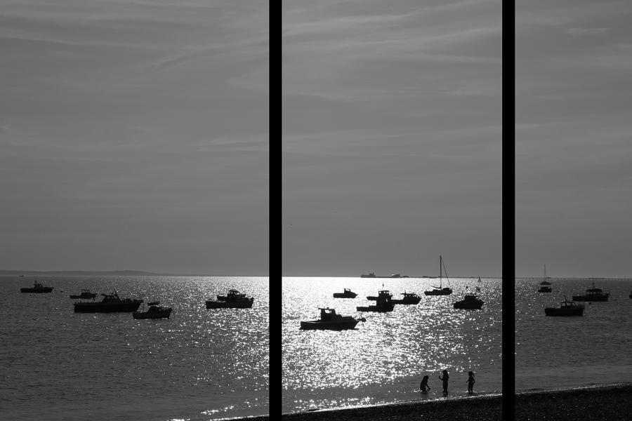 Beach Photograph - Beach Triptych  by Kevin Bates