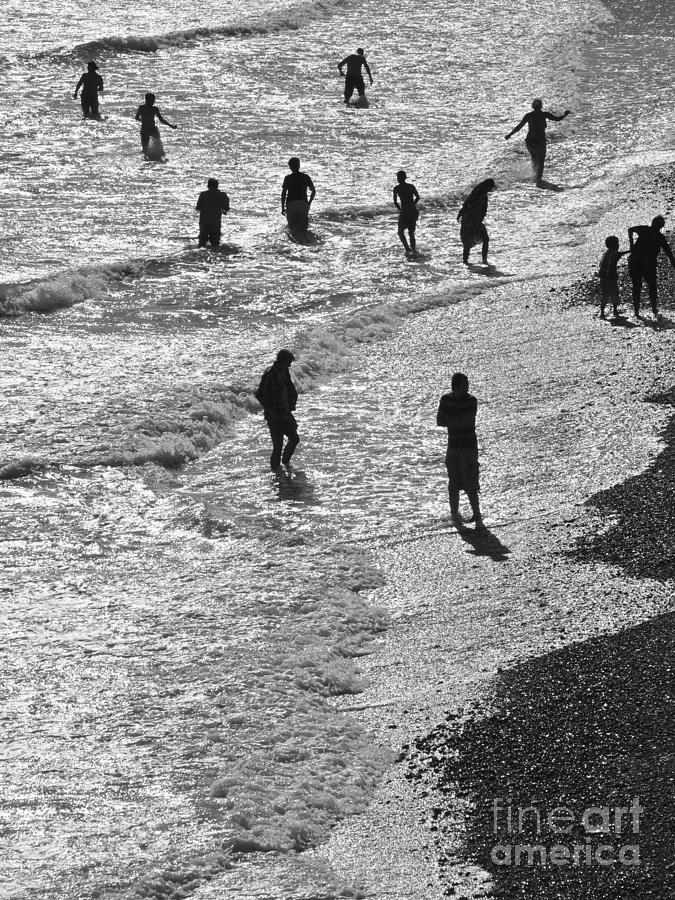 Beach Photograph - Beach Walkers 2 by Tim Bird