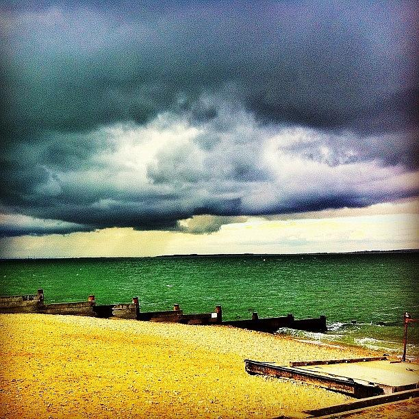 Beautiful Photograph - #beach #whitstable #sea #sand #summer by Samuel Gunnell