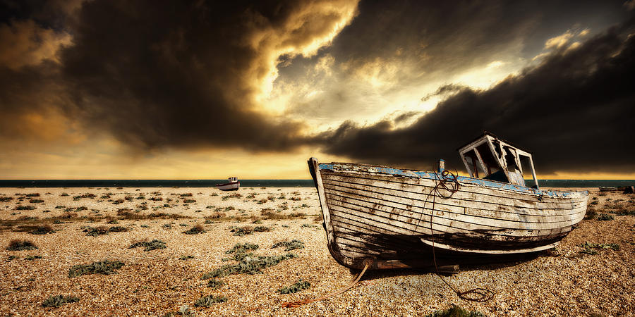 Boat Photograph - Beached In Color by Meirion Matthias
