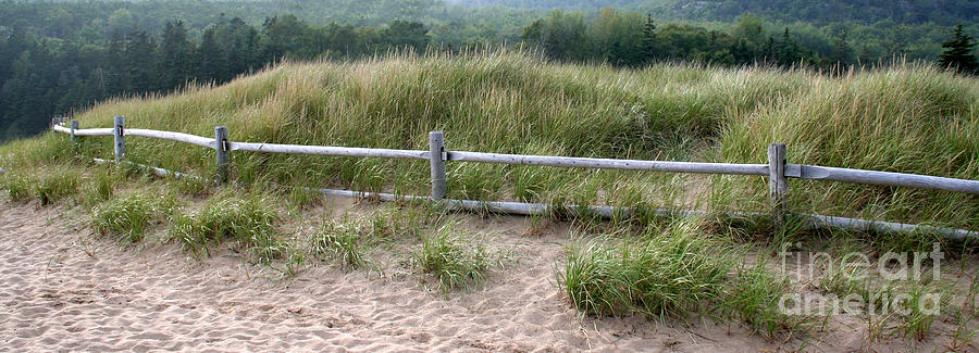 Beachside Fence Photograph - Beachside Fence Panorama by Chris Hill