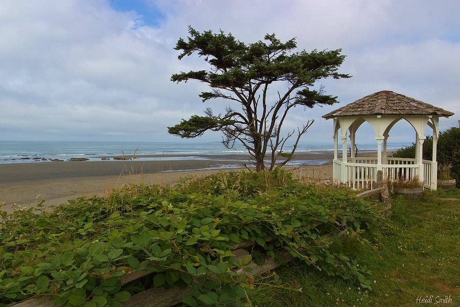 Ocean Photograph - Beachside Gazebo by Heidi Smith