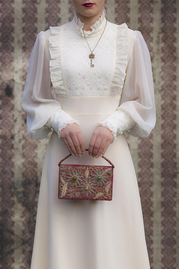 Woman Photograph - Beaded Handbag by Joana Kruse