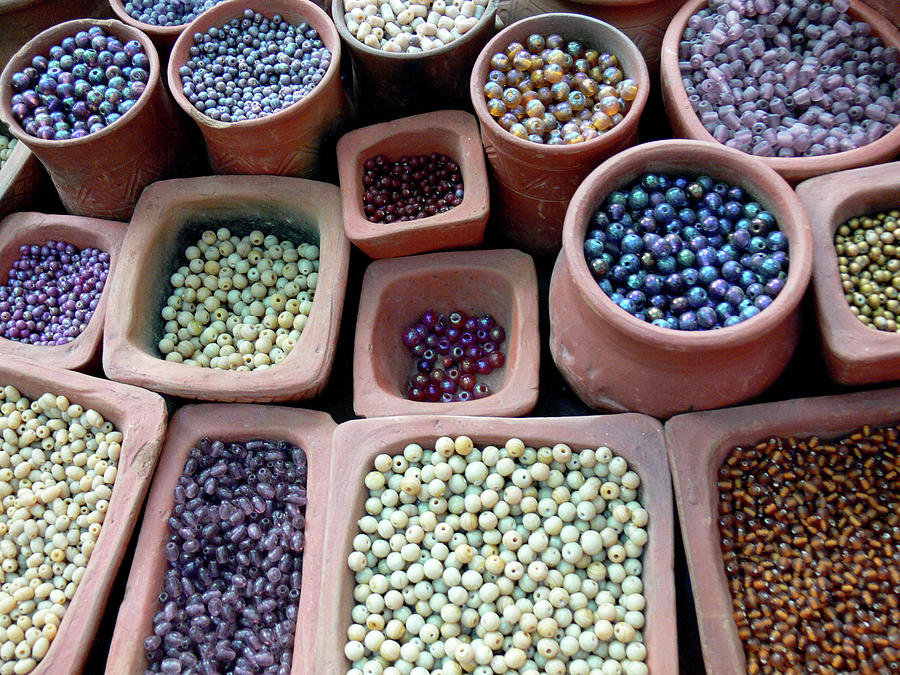 Horizontal Photograph - Beads Violet by Martine Roch