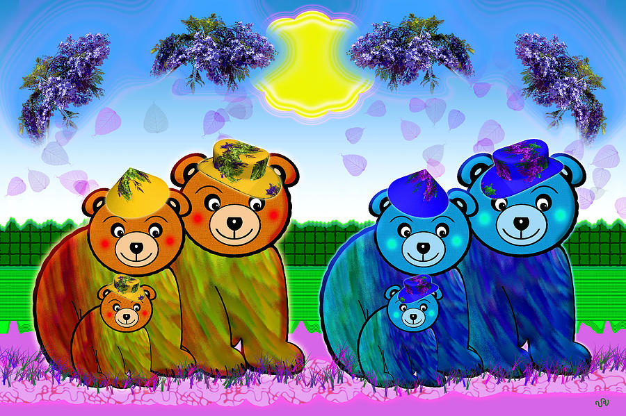 Bear Digital Art - Bears by Victoria Regueira
