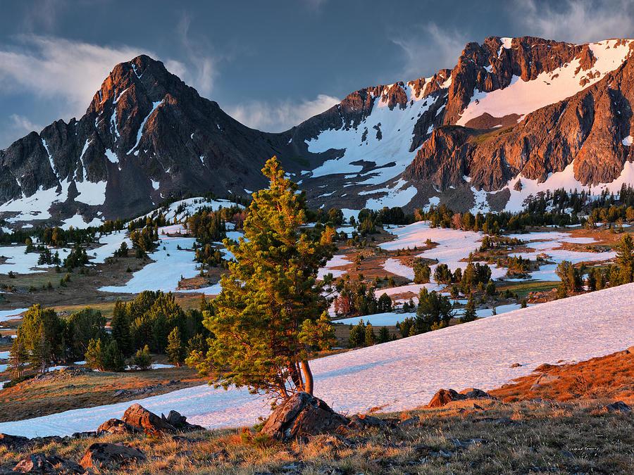 Altitude Photograph - Beartooth Sunrise Light by Leland D Howard