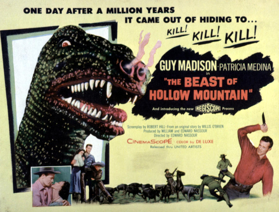 1956 Movies Photograph - Beast Of Hollow Mountain, 1956 by Everett