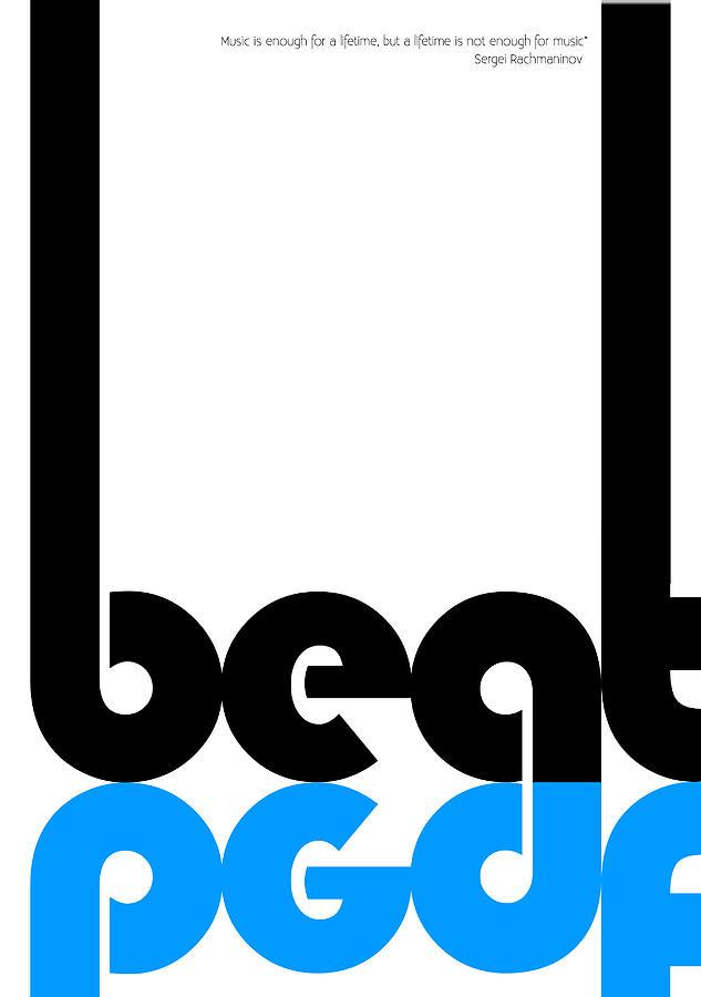Composer Digital Art - Beat Poster by Naxart Studio