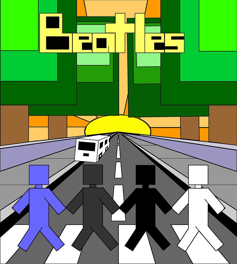 Beatles Digital Art - Beatles Abby Road by Brian Roberts